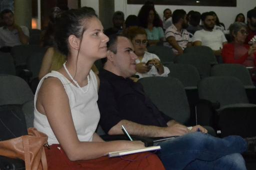 Bruna Gimba, representante da Onu Habitat ao lado de Raniere Moreira coordenador do Lacite