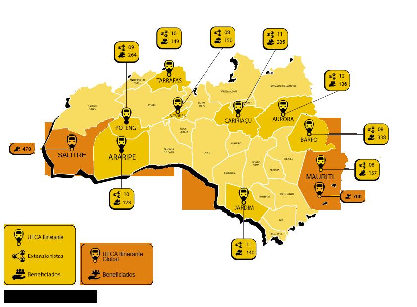 Mapa com dados dos projetos - sem fundo